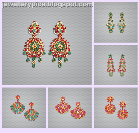 ruby earrings malabar beautify themselves with earrings