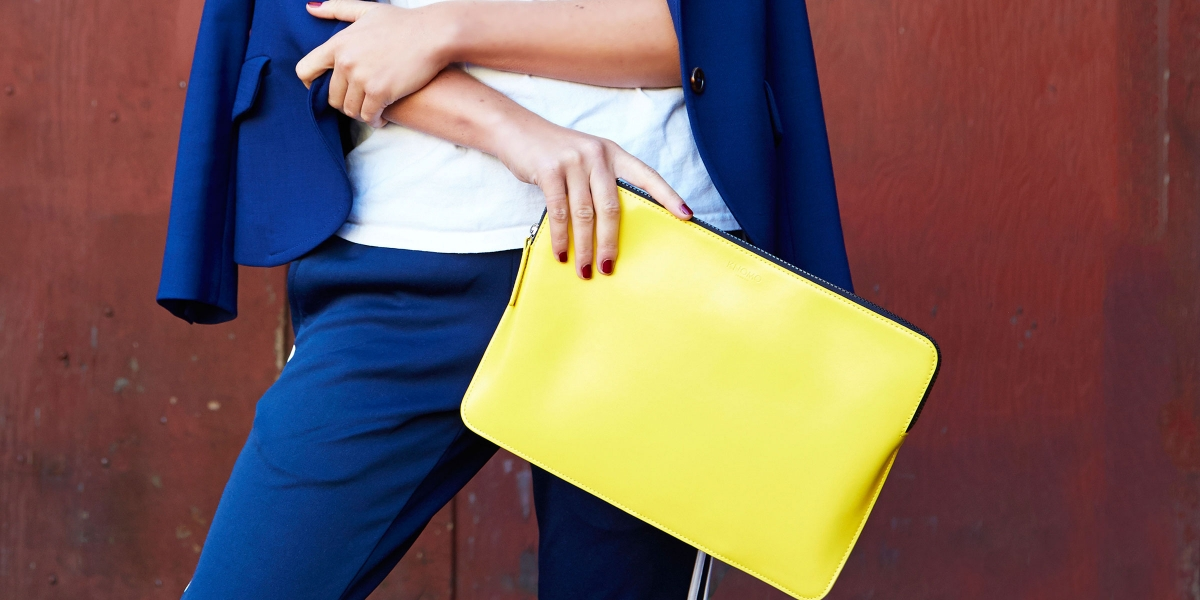 Womens Laptop Sleeve in Yellow by Knomo