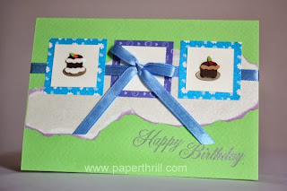 Mini cakes handmade birthday greeting card