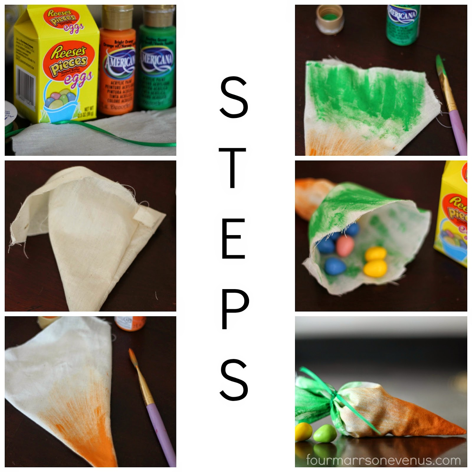Steps to make Carrot Treat Bag