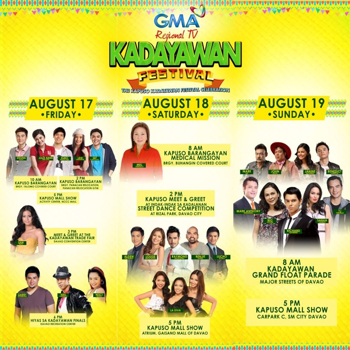 Gma Latest News Update: GMA Artist In Kadayawan Festival 2012