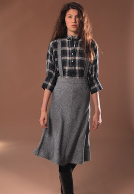Suspender Tweed Skirt