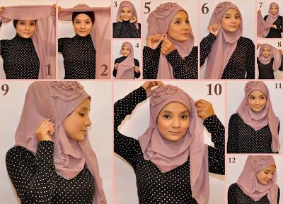 Cara Mudah Memakai Jilbab Modern 2013