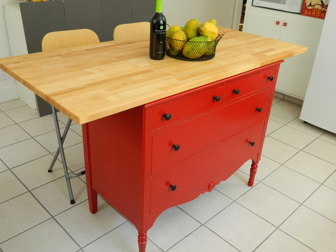 Kitchen Island Made From A Dresser top custom kitchen island table made with 2 thick eastern white