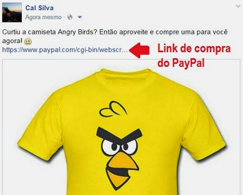como vender pelo facebook link de venda no paypal