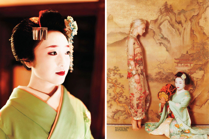 Zimmermann, Geisha, Ollie Henderson, Jane Roarty, July 2012, Japan, Japanese traditions