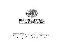 Decreto, reforma de la LGE