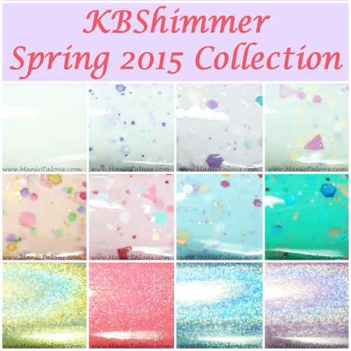 KBShimmer Spring 2015 Collection Swatches