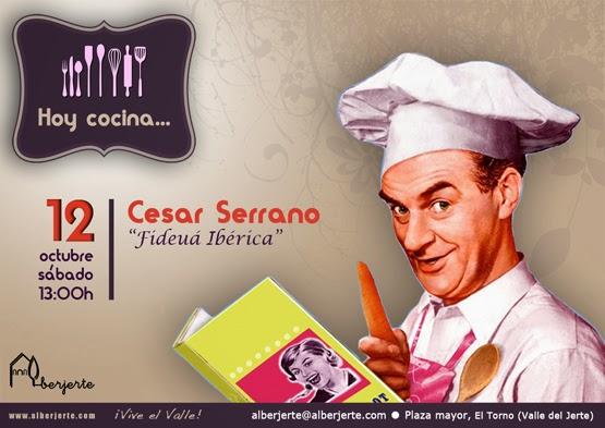 """Hoy cocina... CÉSAR SERRANO """"Fideuá Ibérica"""""""
