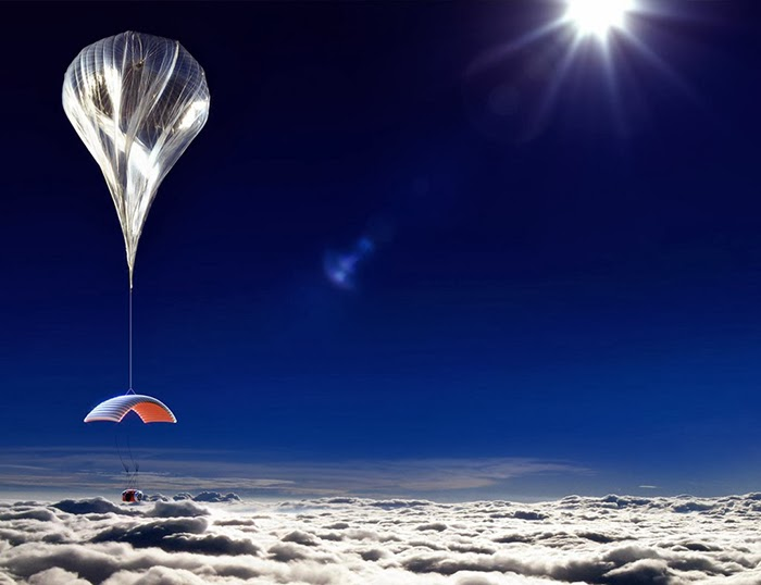 This helium balloon will take you to the space