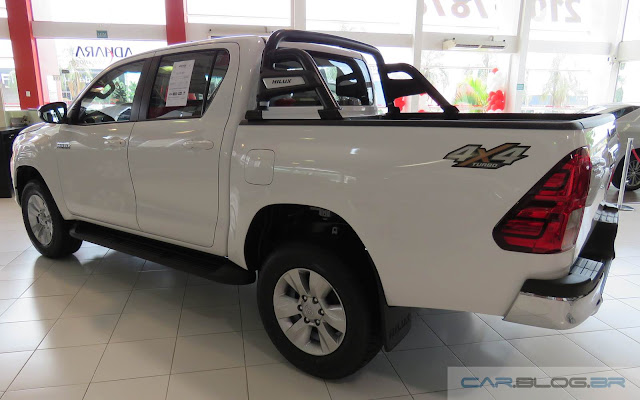 Nova Toyota Hilux 2016 SRV A/T - Branca