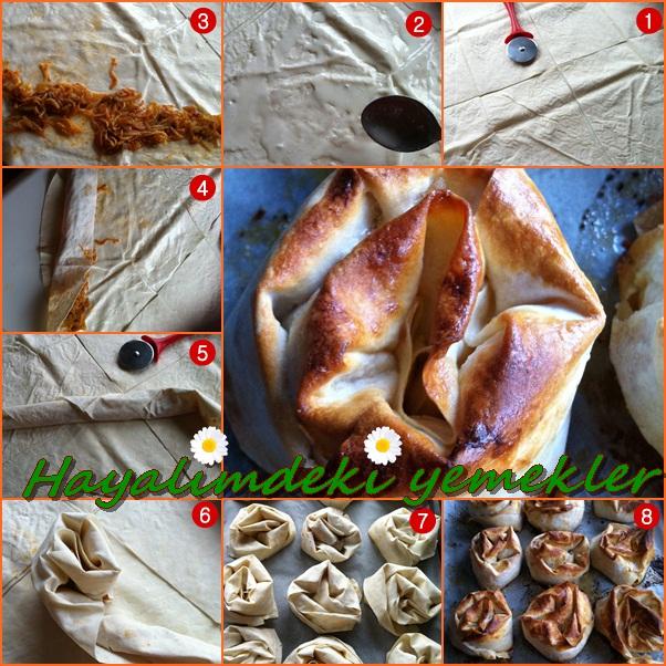 resimli borek tarifleri,Patatesli Gül Böreği Tarifi