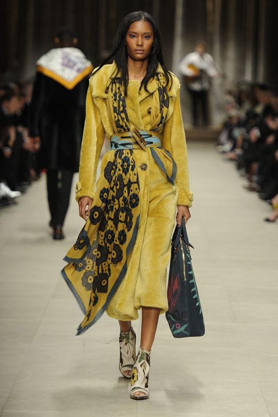 Ysaunny Brito Burberry Prorsum Autumn Winter 2014 show London fashion week