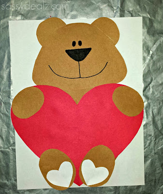i love you beary much valentine craft