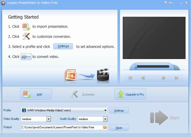 Convert Power point menjadi video