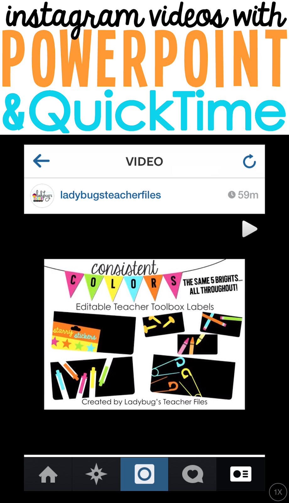 Make Instagram Videos with PowerPoint and QuickTime