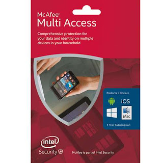McAfee antivirus 2016 Multi Access 1 User 5 Devices