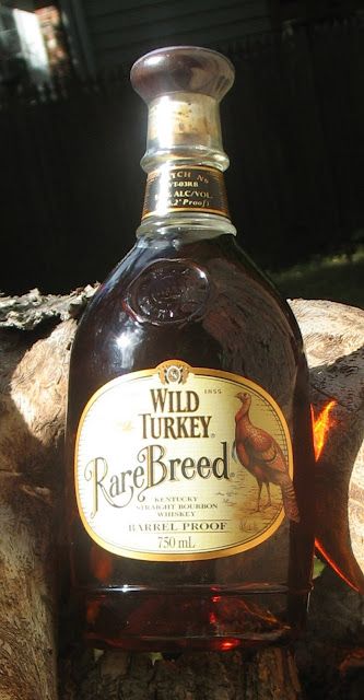 Sunshine on a bottle of Wild Turkey Rare Breed.