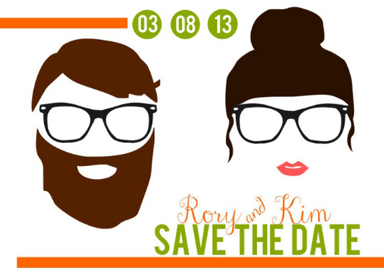 hipster wedding invitations, stationery