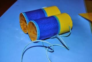 Cómo hacer unos prismáticos con papel higiénico en Recicla Inventa