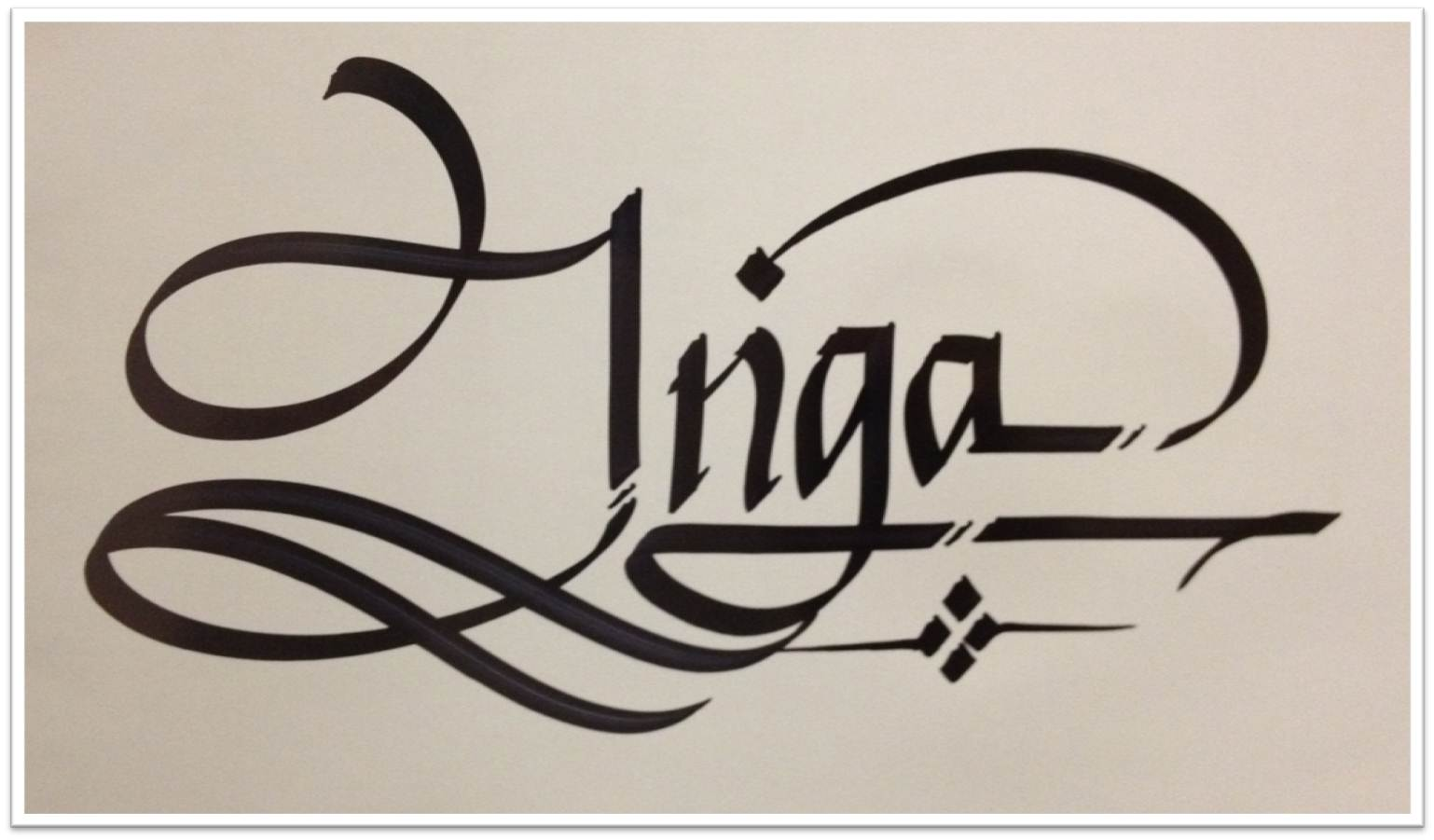 Calligraphy Art Russian Names In Calligraphy Inga