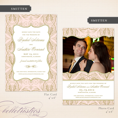 glamorous pink gold wedding save the date design printable diy