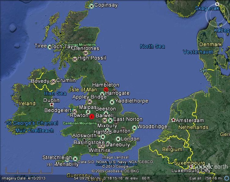 united kingdom meteorites map v1 c 2013 lunarmeteoritehunter google earth