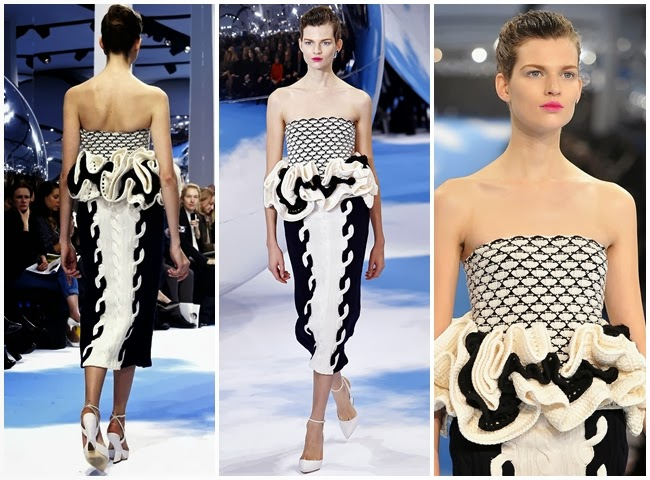 Christian Dior AW 2013 Knit Ruffle Dress 26 Looks
