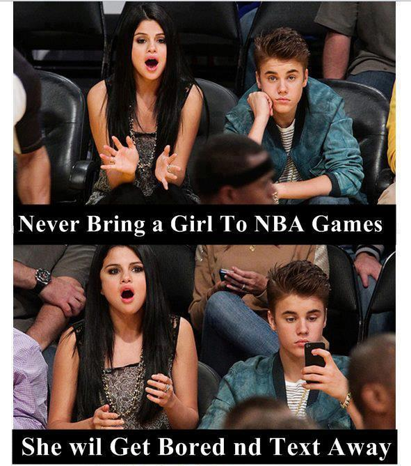 Never Bring A Girl To NBA Games