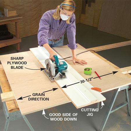 cutting plywood with circular saw 2
