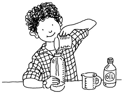 Scientist With Bubbles Coloring Page