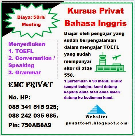Ads: Privat TOEL Makassar