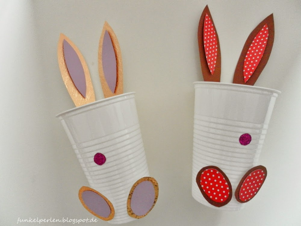 Easy Last Minute DIY for easter: bunny cups @ funkelperlen.blogspot.de
