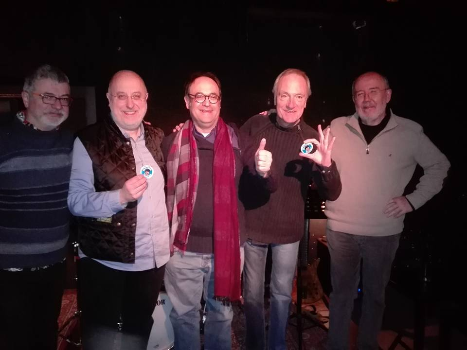 Amb Pablo Posa, Agustí Mas, Emili Baleriola i Rafael Escoté