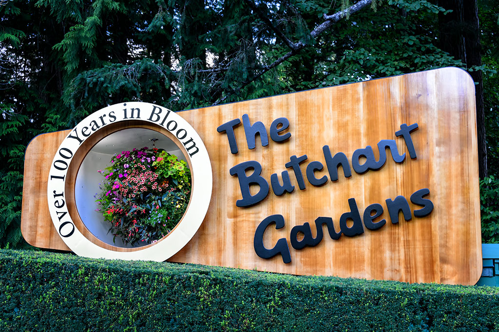 The Butchart Gardens Welcome Sign