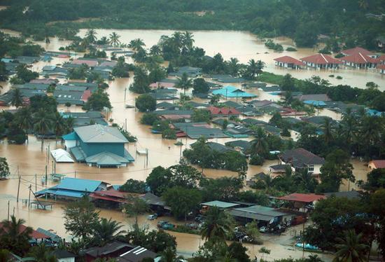 Gambar banjir di Pantai Timur Semenanjung Malaysia 2014