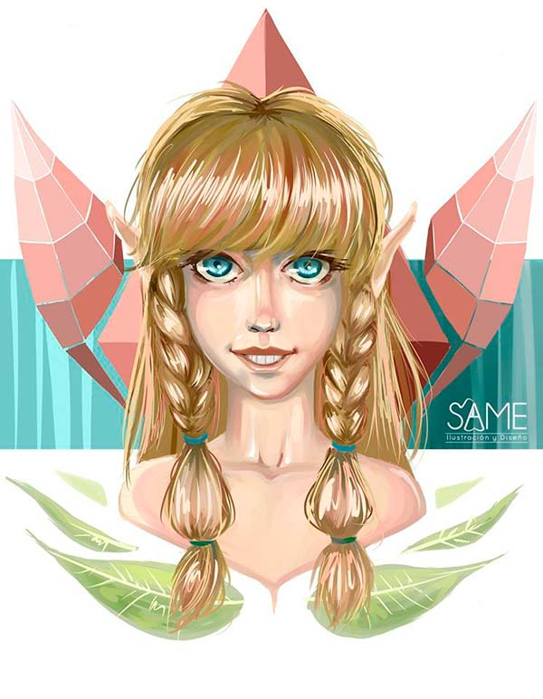 Ilustración, Elfa de Jhoan Sebastian Cristancho Niño aka Same