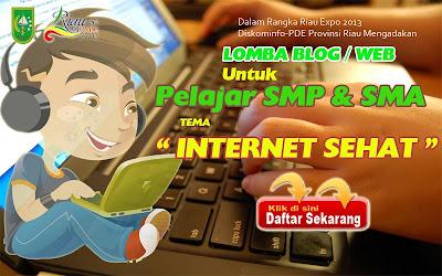 Lomba Blog / Web Untuk Pelajar SMA dan  SMP di Provinsi Riau