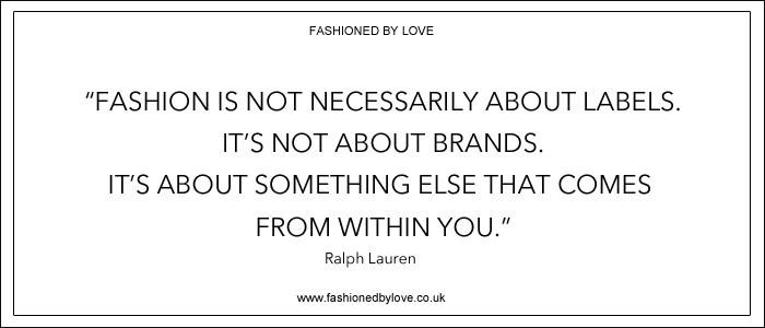 via fashioned by love | best fashion & style quotes | Ralph Lauren