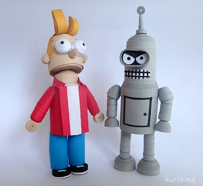 Fry and Bender- Futurama