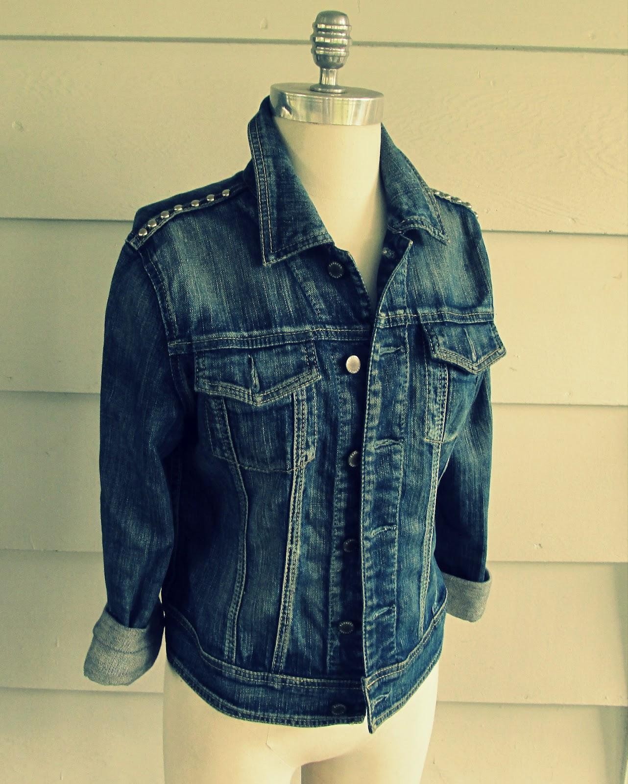 WobiSobi: Studded Denim Jacket, DIY