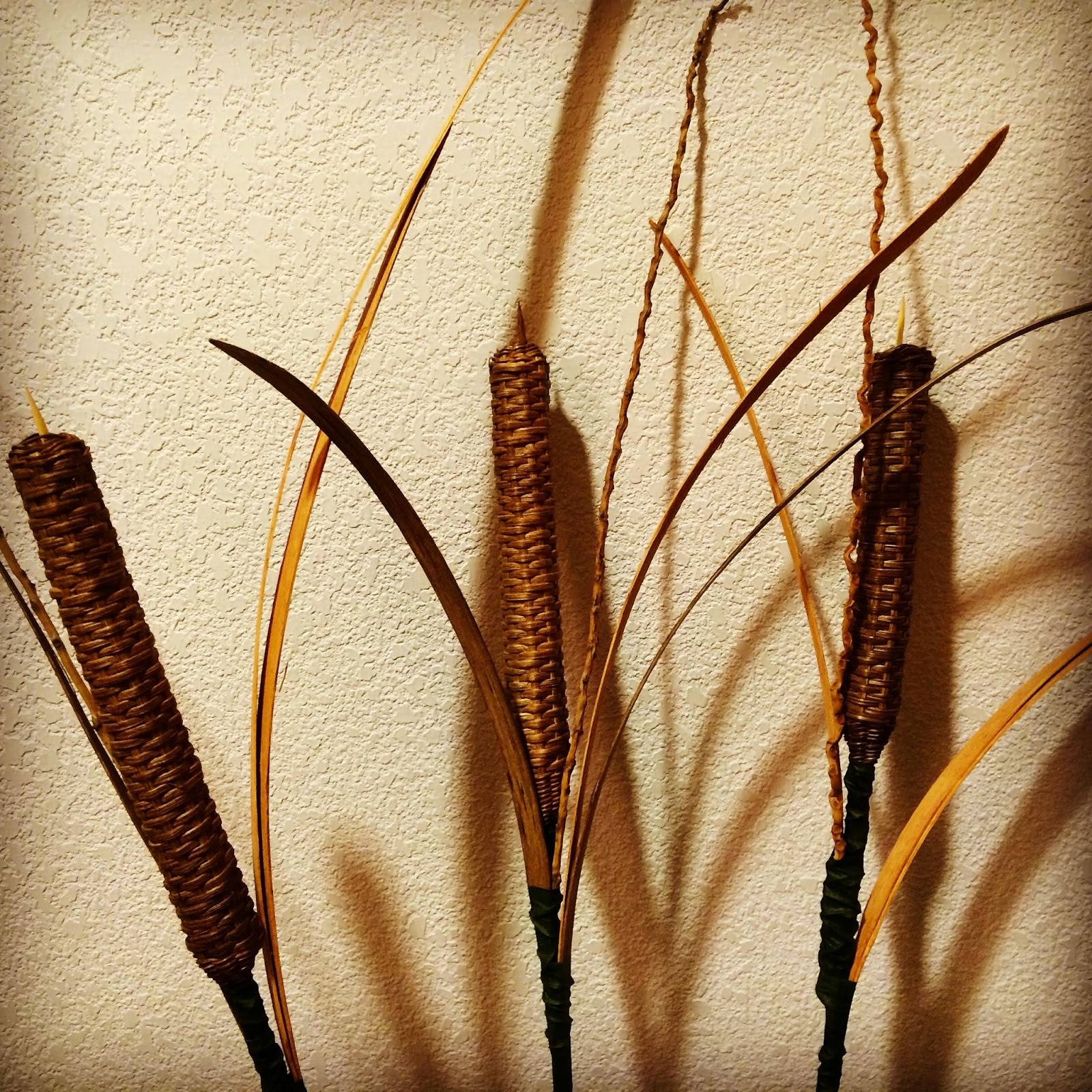 How To Weave A Basket Out Of Cattails : Baskets woven quot faux cattails