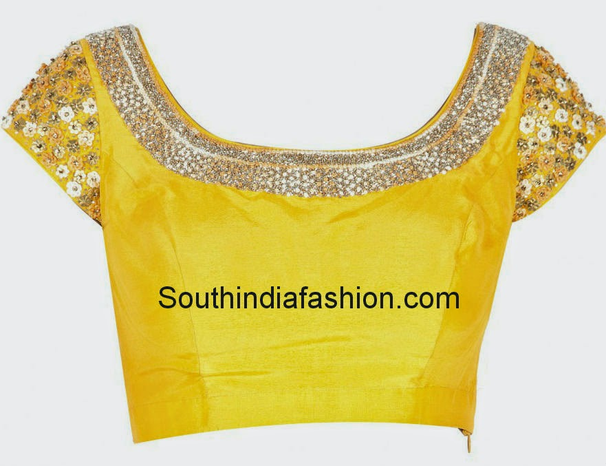 latest deep back neck blouse designs