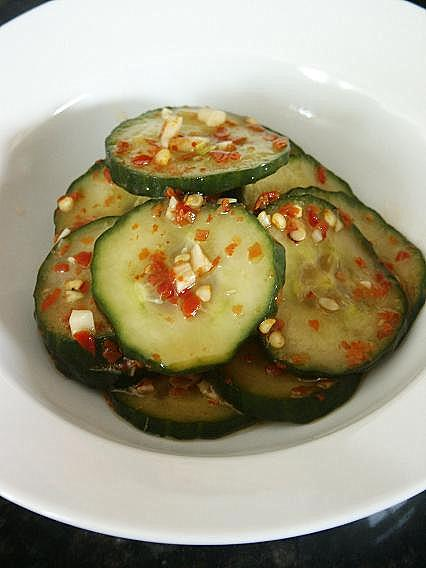 Little Corner of Mine: Spicy Cucumber Salad (Oye Moochim)