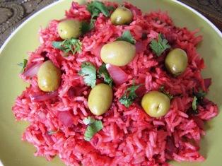 Salade pillaf de riz la betterave et l 39 oignion rouge arome art de cuisiner indienne avec - Cuisiner des betteraves rouges ...