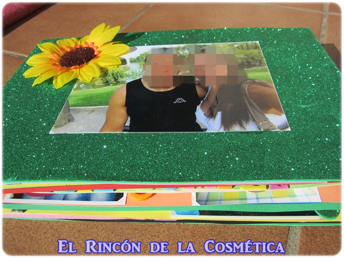 El rinc n de la cosm tica regalo bonito original y casero lbum personalizado para san - Manualidades album de fotos casero ...