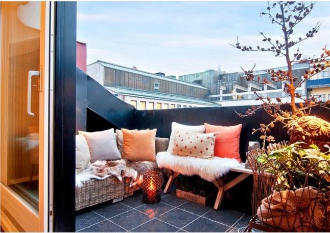 Boho deco chic insp raci n balcones de invierno con encanto - Balcones pequenos con encanto ...