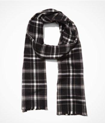 Express men plaid scarf