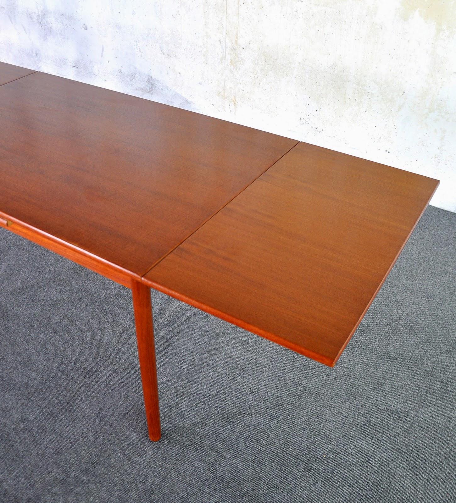 Danish Teak Dining Room Table