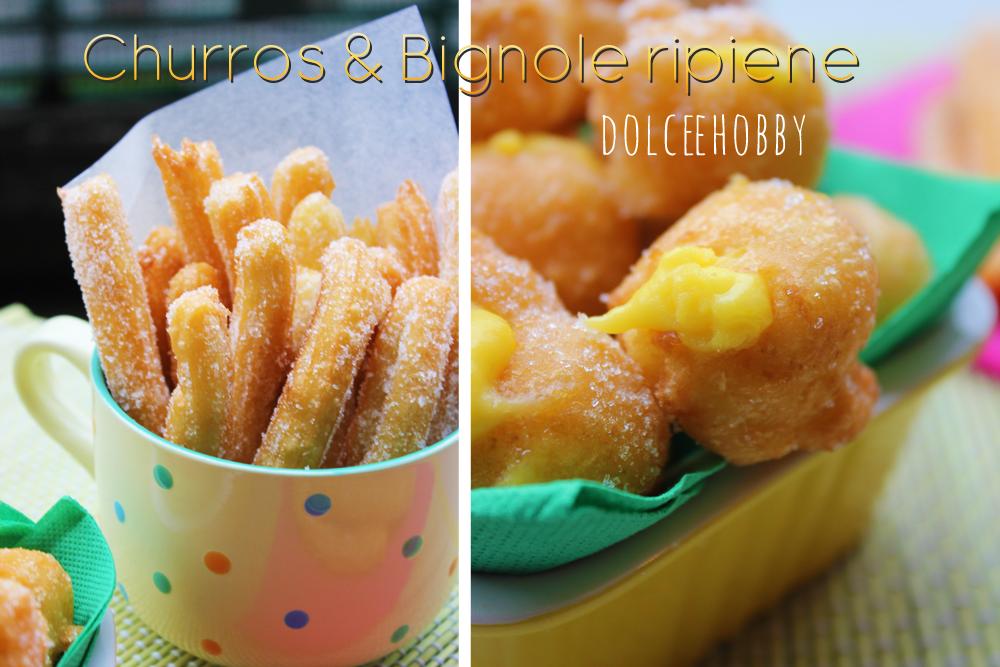 churros & bignole ripiene - carnevale